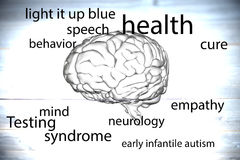 Composite image of autism terms Stock Images