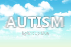 A composite image of autism Royalty Free Stock Images