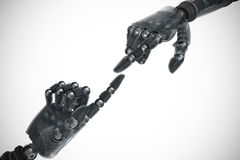 Composite image of back robot arm pointing at something Stock Photo