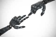 Composite image of back robot arm pointing at something Royalty Free Stock Photo