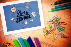 Composite image of back to school Stock Photography
