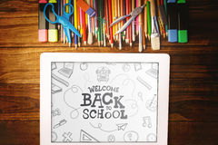 Composite image of back to school Royalty Free Stock Photos