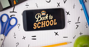 Composite image of back to school Stock Photos