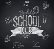 Composite image of back to school deals message Royalty Free Stock Images