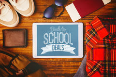 Composite image of back to school deals message Stock Photo