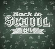 Composite image of back to school deals message Stock Images
