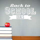 Composite image of back to school deals message Stock Photos