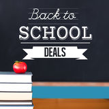 Composite image of back to school deals message Stock Photography