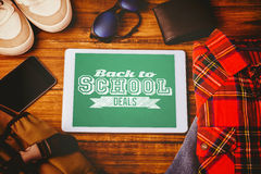 Composite image of back to school deals message Royalty Free Stock Photo