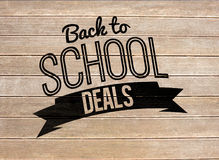 Composite image of back to school deals message Royalty Free Stock Image