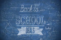 Composite image of back to school deals message Stock Image