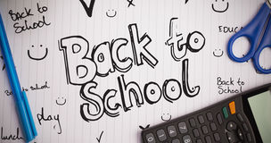 Composite image of back to school doodle Stock Photography