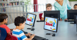 Composite image of back to school graphic Royalty Free Stock Photography
