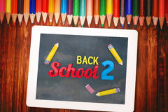 Composite image of back to school graphic Stock Images