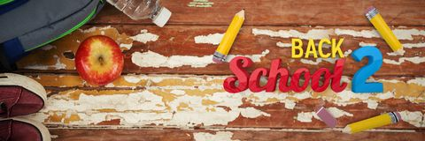 Composite image of back to school graphic Stock Photography