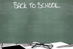 Composite image of back to school message Stock Photos