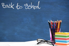 Composite image of back to school message Royalty Free Stock Photo
