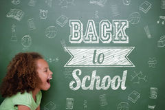 Composite image of back to school message Stock Photo
