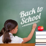 Composite image of back to school message Royalty Free Stock Images