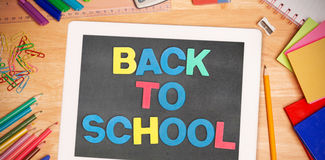 Composite image of back to school message Royalty Free Stock Photography