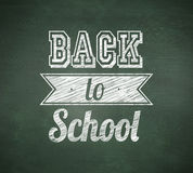 Composite image of back to school message Royalty Free Stock Image