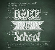 Composite image of back to school message. Back to school message against green chalkboard Stock Photography