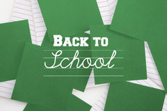 Composite image of back to school message Stock Images