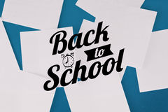 Composite image of back to school message Stock Photography