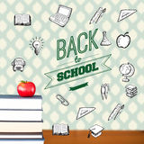 Composite image of back to school message with icons Royalty Free Stock Photography