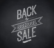 Composite image of back to school sale message Royalty Free Stock Photo
