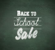 Composite image of back to school sale message Stock Images