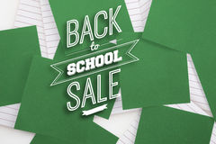 Composite image of back to school sale message Stock Photo