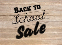 Composite image of back to school sale message Royalty Free Stock Photography