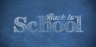 Composite image of back to school text against white background Stock Photo