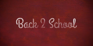 Composite image of back to school text against white background Royalty Free Stock Photography