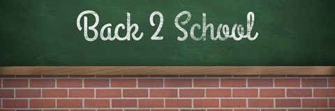 Composite image of back to school text against white background Stock Photography