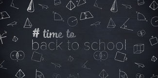 Composite image of back to school text with hashtag Royalty Free Stock Photo