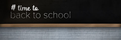 Composite image of back to school text with hashtag Stock Images