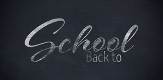 Composite image of back to school text over white background Royalty Free Stock Images
