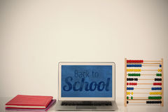 Composite image of back to school text over white background Stock Image