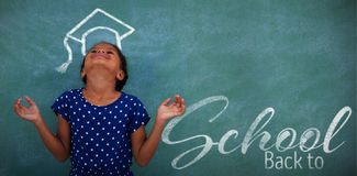 Composite image of back to school text over white background Stock Photography