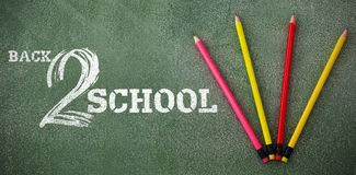 Composite image of back to school text on white background Royalty Free Stock Photography