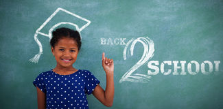 Composite image of back to school text on white background Stock Image
