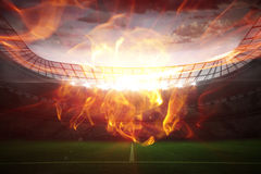 Composite image of ball of fire 3d Stock Photography