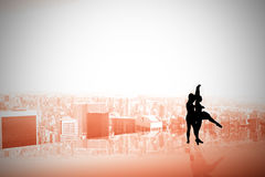 Composite image of ballet partners dancing Stock Image