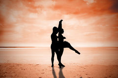Composite image of ballet partners dancing Royalty Free Stock Image