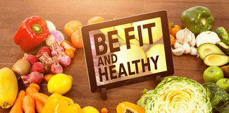 Composite image of be fit and healthy Royalty Free Stock Images