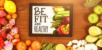 Composite image of be fit and healthy Royalty Free Stock Photography