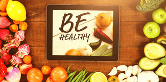 Composite image of be healthy Stock Photo