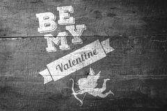 Composite image of be my valentine Stock Photo